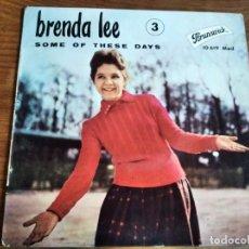 Discos de vinilo: BRENDA LEE - SOME OF THESE DAYS ************ RARO EP FRANCÉS!. Lote 227633815