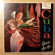 Discos de vinilo: DISCO EP CUBA SAX CHA CHA. ORQUESTA CUBANA. PAÑUELO ROJO. CUBALEGRE. Lote 227638135