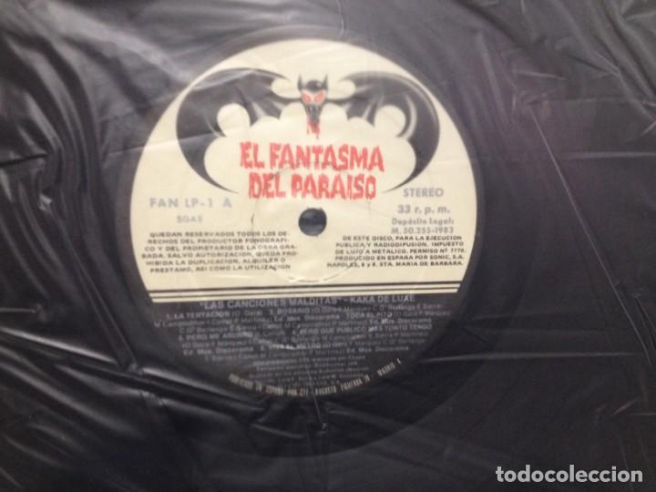 Discos de vinilo: KAKA DE LUXE - LAS CANCIONES MALDITAS / LP ED. ORIGINAL 1983 - FAN LP 1 / NM/VG+ - Foto 4 - 227684515