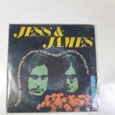 Discos de vinilo: JESS & JAMES - ALGO POR NADA / DEJO PASAR EL DÍA, BELTER 1968.. Lote 227691560