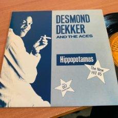 Discos de vinilo: DESMOND DEKKER (HIPPOPOTAMUS) SINGLE UK 1984 (EPI20). Lote 227702100