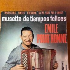 Discos de vinilo: MUSETTE DE TIEMPOS FELICES - EMILE PROUD'HOMME. Lote 227706930