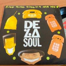 Discos de vinilo: DE LA SOUL (RING RING RING) SINGLE ESPAÑA 1992 (EPI20). Lote 227714532