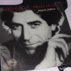 Disques de vinyle: LP JOAQUIN SABINA - MENTIRAS PIADOSAS. Lote 227731170