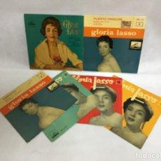 Discos de vinilo: GLORIA LASSO, DISCOS FIRMADOS. Lote 227749895