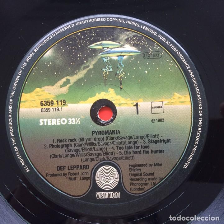 Discos de vinilo: Def Leppard – Pyromania Netherlands,1983 Vertigo - Foto 3 - 257544880