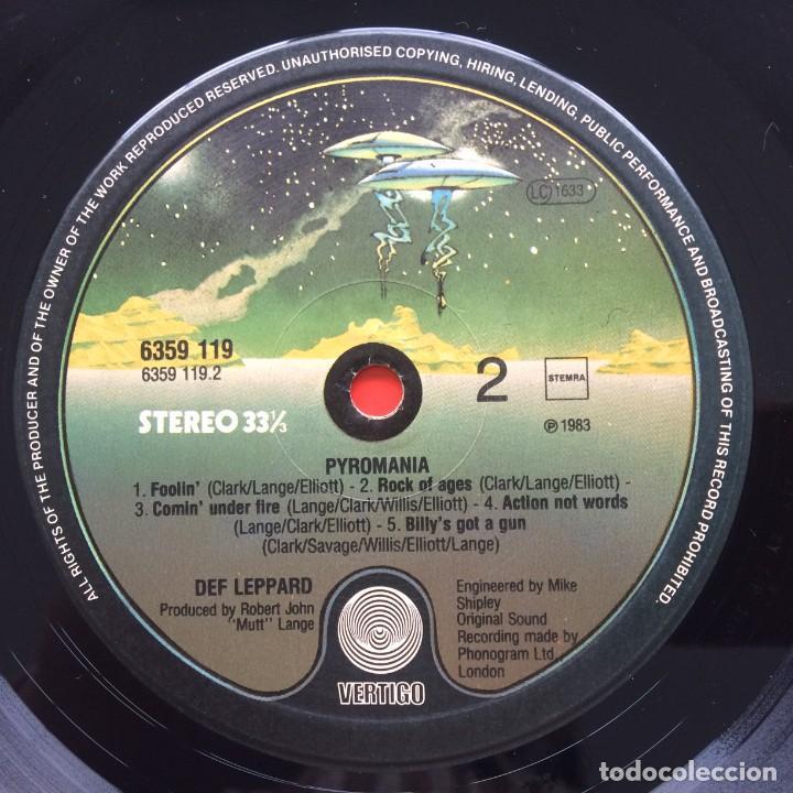 Discos de vinilo: Def Leppard – Pyromania Netherlands,1983 Vertigo - Foto 4 - 257544880