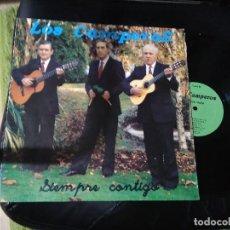 Discos de vinilo: LOS CAMPEROS / SIEMPRE CONTIGO / LP 33 RPM BASATI DISKAK / EIBAR. Lote 227759590