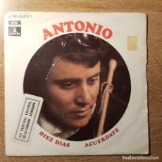 Discos de vinilo: DISCO SINGLE DE ANTONIO. FESTIVAL DE BENIDORM. Lote 227760760