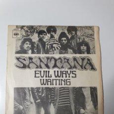 Discos de vinilo: SANTANA - EMILIO WAYS / WAITING, CBS 1970.. Lote 297394038