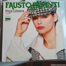 Discos de vinilo: FAUSTO PAPETTI SAX - NATA LIBERA (DURIUM - LP.S 40.027, ITALY, 1978). Lote 227795984