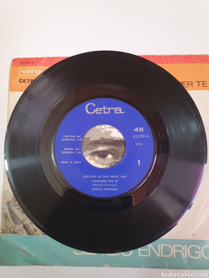 Discos de vinilo: Festival De San Remo 1968 - Sergio Enrico, Canzone Per Te/Gianni Pettenati, La Tramontana. - Foto 3 - 227797485