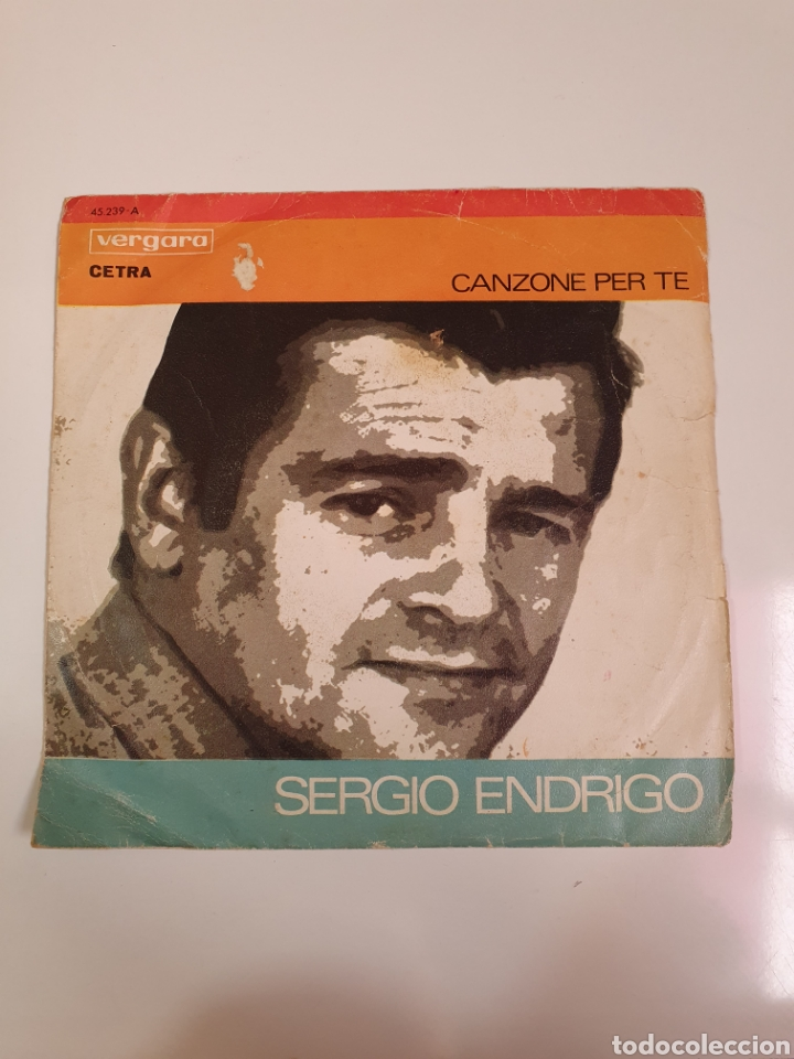 FESTIVAL DE SAN REMO 1968 - SERGIO ENRICO, CANZONE PER TE/GIANNI PETTENATI, LA TRAMONTANA. (Música - Discos - Singles Vinilo - Otros Festivales de la Canción)