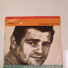 Discos de vinilo: FESTIVAL DE SAN REMO 1968 - SERGIO ENRICO, CANZONE PER TE/GIANNI PETTENATI, LA TRAMONTANA.. Lote 227797485