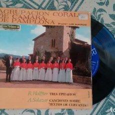 Discos de vinilo: AGRUPACION CORAL DE CAMARA DE PAMPLONA AÑOS 60. Lote 227802855