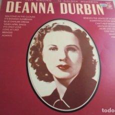 Discos de vinilo: LP DEANNA DURBIN. CAN´T HELP SINGING. 16 GOLDEN MEMORIES. Lote 227814860