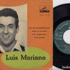 Discos de vinilo: LUIS MARIANO - CHA CHA CHA MADEMOISELLE - EP DE VINILO EDICION ESPAÑOLA. Lote 227830961