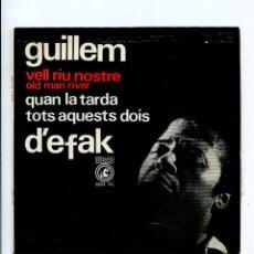 Discos de vinilo: GUILLEM D'EFAK VELL RIU NOSTRE, QUAN LA TARDA. ETC. CONCENTRIC 1965. EP PERFECTE ESTAT AMB INSERTO. Lote 227830970