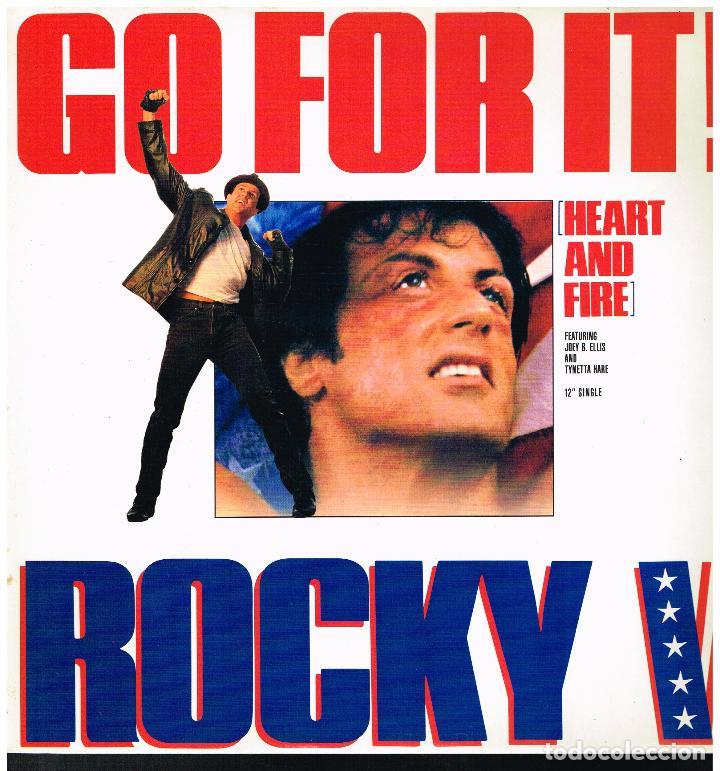 ROCKY V - GO FOR IT - MAXI SINGLE 1990 (Música - Discos de Vinilo - Maxi Singles - Bandas Sonoras y Actores)