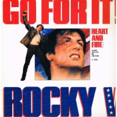 Discos de vinilo: ROCKY V - GO FOR IT - MAXI SINGLE 1990. Lote 227858655