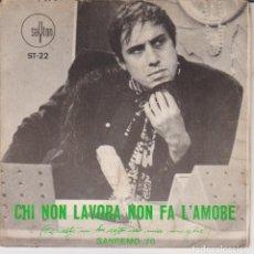 Discos de vinilo: SINGLE ADRIANO CELENTANO CHI NON LAVORA NON FA L'AMORE. Lote 227873630