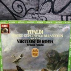 Discos de vinilo: VIVALDI - CUATRO CONCIERTOS PARA VIOLÍN. Lote 227889575
