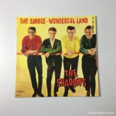 "Discos de vinilo: EP 7"" - THE SHADOWS - THE SAVAGE / WONDERFUL LAND (FRANCE, 1962). Lote 227911513"