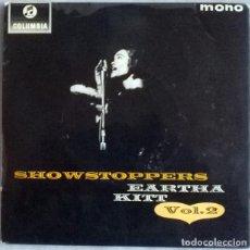 Discos de vinilo: EARTHA KITT. SHOW STOPPERS VOL 3. I HAD A HARD DAT LAST NIGHT/ FIN JAN/ ENGLISHMAN/ LITTLE. 1962. Lote 227928675