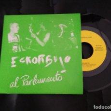 Disques de vinyle: ESKORBUTO AL PARLAMENTO / SINGLE 45 RPM / DISCOS SUICIDAS 1986 ORIGINAL NUEVO. Lote 227958185