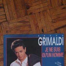 """Discos de vinilo: BRUNO GRIMALDI – JE NE SUIS QU'UN HOMME SELLO: RCA – PT 44996 FORMATO: VINYL, 12"""", 45 RPM, MAXI-SI. Lote 227962840"""