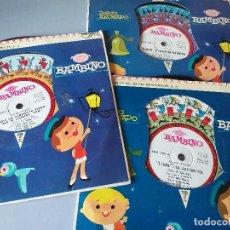 Discos de vinilo: DISCO ANIMADO BAMBINO - LINDA LA COCINERITA + 5 TEMAS MAS- 3 DISCOS-PHILIPS 1961. Lote 227965300