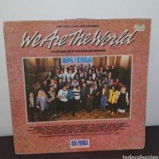 Discos de vinilo: USA FOR ADRICA - WE ARE THE WORLD THE HISTORIC RECORDING LP DISCO VINILO. Lote 227975800