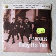 Discos de vinilo: THE BEATLES.BABY IT´S YOU + 3...PRECINTADO. Lote 227993000