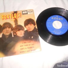 Discos de vinilo: THE BEATLES I FEEL FINE, ANY TIME AT ALL, SHES A WOMAN..EP ODEON 1964. Lote 228001015