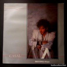 Discos de vinilo: CASAL - PANICO EN EL EDEN - MAXI SINGLE 1984 - HARVEST. Lote 228006625