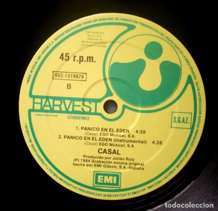 Discos de vinilo: CASAL - Panico En El Eden - MAXI SINGLE 1984 - HARVEST - Foto 3 - 228006625