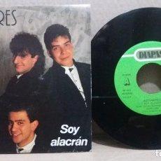 Discos de vinilo: AZAHARES / SOY ALACRAN / SINGLE 7 INCH. Lote 228018435