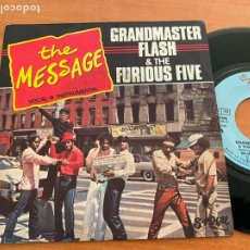 Dischi in vinile: GRANDMASTER FLASH & THE FURIOUS FIVE (THE MESSAGE ) SINGLE FRANCE 1982 (EPI20). Lote 228019125