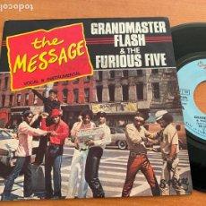 Disques de vinyle: GRANDMASTER FLASH & THE FURIOUS FIVE (THE MESSAGE ) SINGLE FRANCE 1982 (EPI20). Lote 228019125