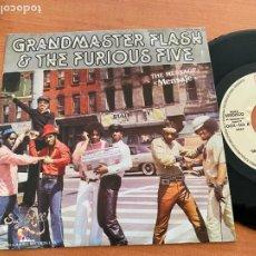 Discos de vinilo: GRANDMASTER FLASH & THE FURIOUS FIVE (MENSAJE ) SINGLE ESPAÑA 1982 PROMO (EPI20). Lote 228019535