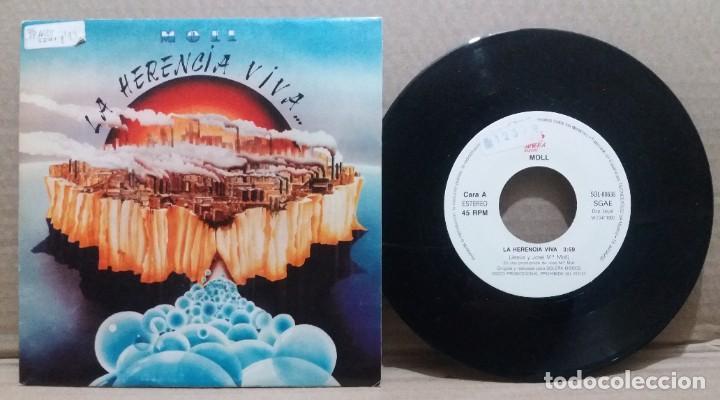 MOLL / LA HERENCIA VIVA / SINGLE 7 INCH (Música - Discos - Singles Vinilo - Grupos Españoles de los 90 a la actualidad)