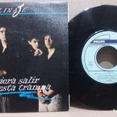 Discos de vinilo: LINAJE / QUISIERA SALIR DE ESTA TRAMPA / SINGLE 7 INCH. Lote 228028685