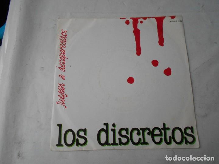 VINILO SINGLE DE LOS DISCRETOS (Música - Discos - Singles Vinilo - Grupos Españoles de los 70 y 80)