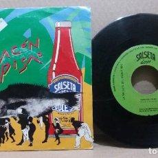 Discos de vinilo: LA SALSETA DEL POBLE SEC / PATACON PISAO / SINGLE 7 INCH. Lote 228033318