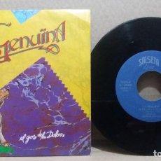 Discos de vinilo: LA GENUINA / EL GOS DE LA DOLORS / SINGLE 7 INCH. Lote 228034645