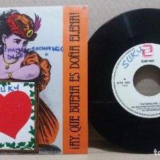 Discos de vinilo: PATXINGUER Z / ¡AY, QUE BUENA ES DOÑA ELENA! / SINGLE 7 INCH. Lote 228037185