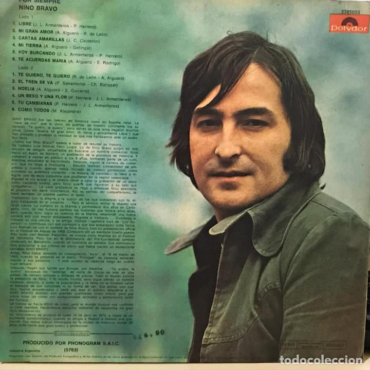 Discos de vinilo: LP argentino y recopilatorio de Nino Bravo año 1973 - Foto 2 - 228063940