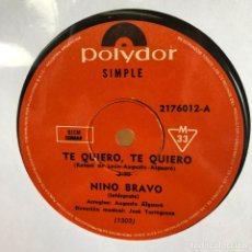 Discos de vinilo: DOS SENCILLOS ARGENTINOS DE NINO BRAVO. Lote 228064765