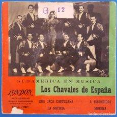 Discos de vinilo: EP / LOS CHAVALES DE ESPAÑA / UNA JACA CARTUJANA - LA NOTICIA -A ESCONDIDAS-MORENA/LONDON EDGE 70219. Lote 228067985