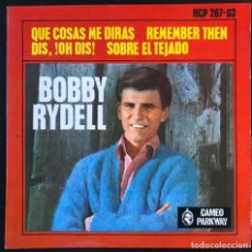 Discos de vinilo: BOBBY RYDELL  I'M GONNA BE WARM THIS WINTER CAMEO HCP 267-03 EP SPAIN 1963 EXCELENTE. Lote 228103760